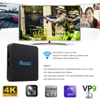 QINTAIX Q28 quad core android tv box xbmc Andorid 7.1 tv box with high quality