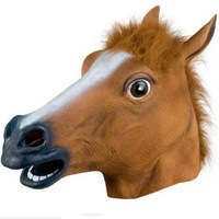 Horse Head Mask Realistic Latex Animal Halloween Mask for Halloween Cosplay Costume Party