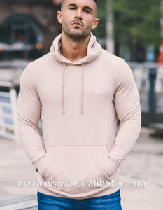 Hot Sale Men's Pullover Fitted Hoodie Gym wear 50% Cotton 50% Polyester Hoodie with Fleece Lining