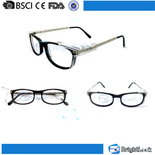 Good quality nice ce cheap old fashion pc custom side shield cycling safety goggle reading glasses eyewear