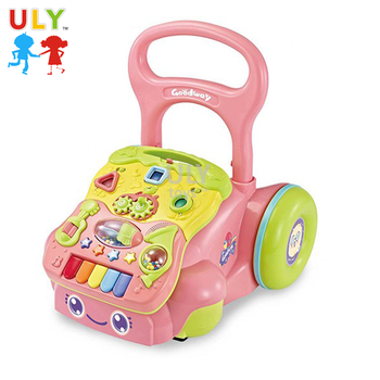 Good quality cheap tube push multifunction new model baby walker