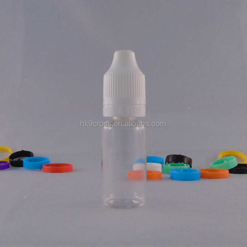Nail polish empty water 10ml small sample plastic cosmetic bottles for ejuice