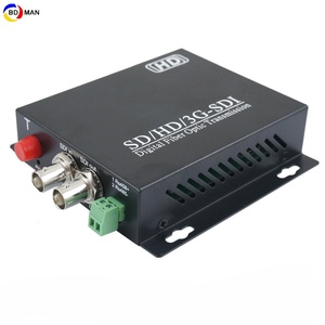 3G SDI FIber 1ch HD-SDI With Embeded Audio Video Converter 1ch Loop Out 1.25G