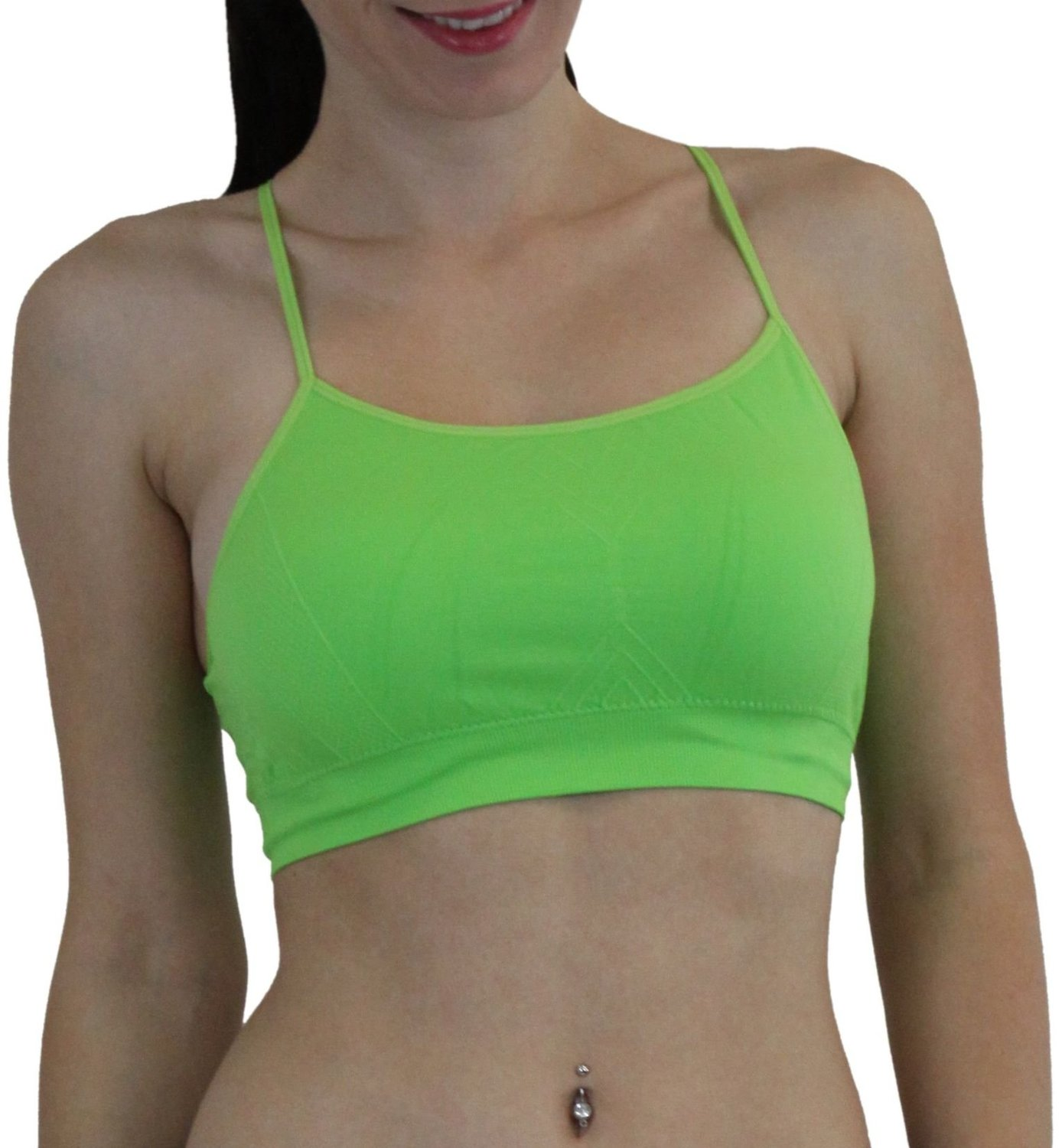 f6835286e3 Get Quotations · ToBeInStyle Women s Racerback Wire-Free Sports Bra w   Adjustable Straps