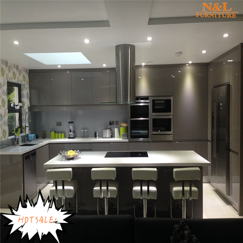 European style modern flat pack kitchen / ready made kitchen cabinet, free used kitchen cabinets