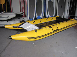 PVC inflatable catamaran folding boat for sale