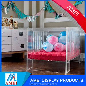 2017 visable Durable safe acrylic crib & baby bed for nursery