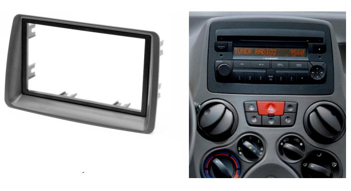 double din fascia for fiat panda radio cd dvd stereo panel. Black Bedroom Furniture Sets. Home Design Ideas