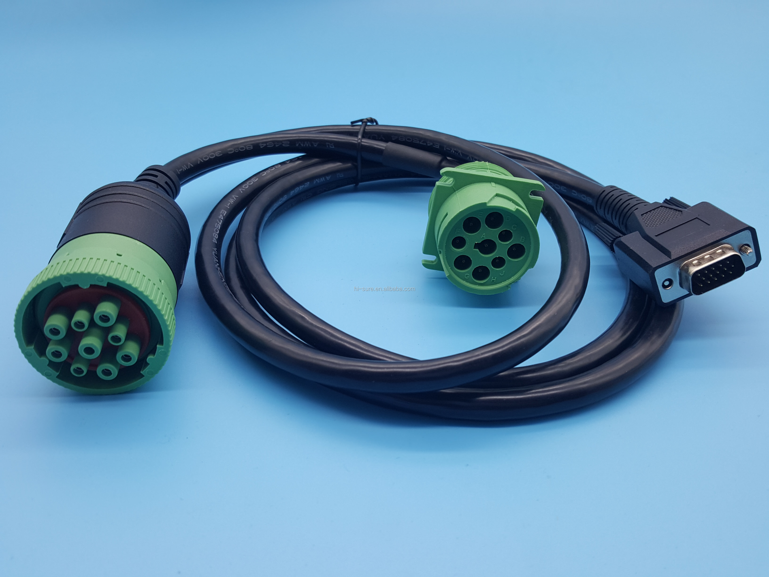 Deutsch 9 Pin Wire Harness Connector J1939 To J1939 & Db15p Split Y on