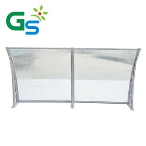 Diy Economical Outdoor Practical PC Bracket Plastic Window Porch Canopy Front Polycarbonate Awning