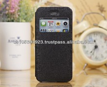 For Iphone 5C Smart Stand Leather Case Cover Front View Window 6 colors