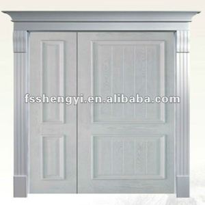 marble pillar primary-secondary wooden door