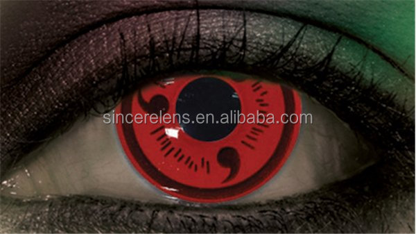 Cheap price nice soft color contact lenses red colored wholesale halloween contacts