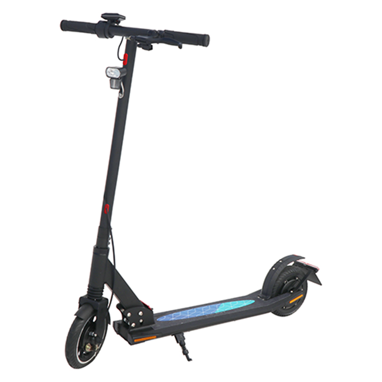 Folding 250W Wide Wheel Fat 8 Inch Solid Tire Foldable Electric Scooter Electric Adult, Black