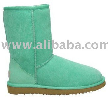 2010 new arrival style women green good quality wool snow knee boots!Fashion boots!