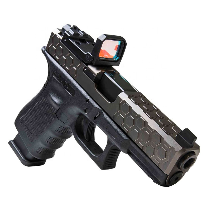 Tactical RMR Red Dot Sight Reflex Foldable Scope Holographic Weapon Sight for Airsoft Hunting Glock Sights, Black