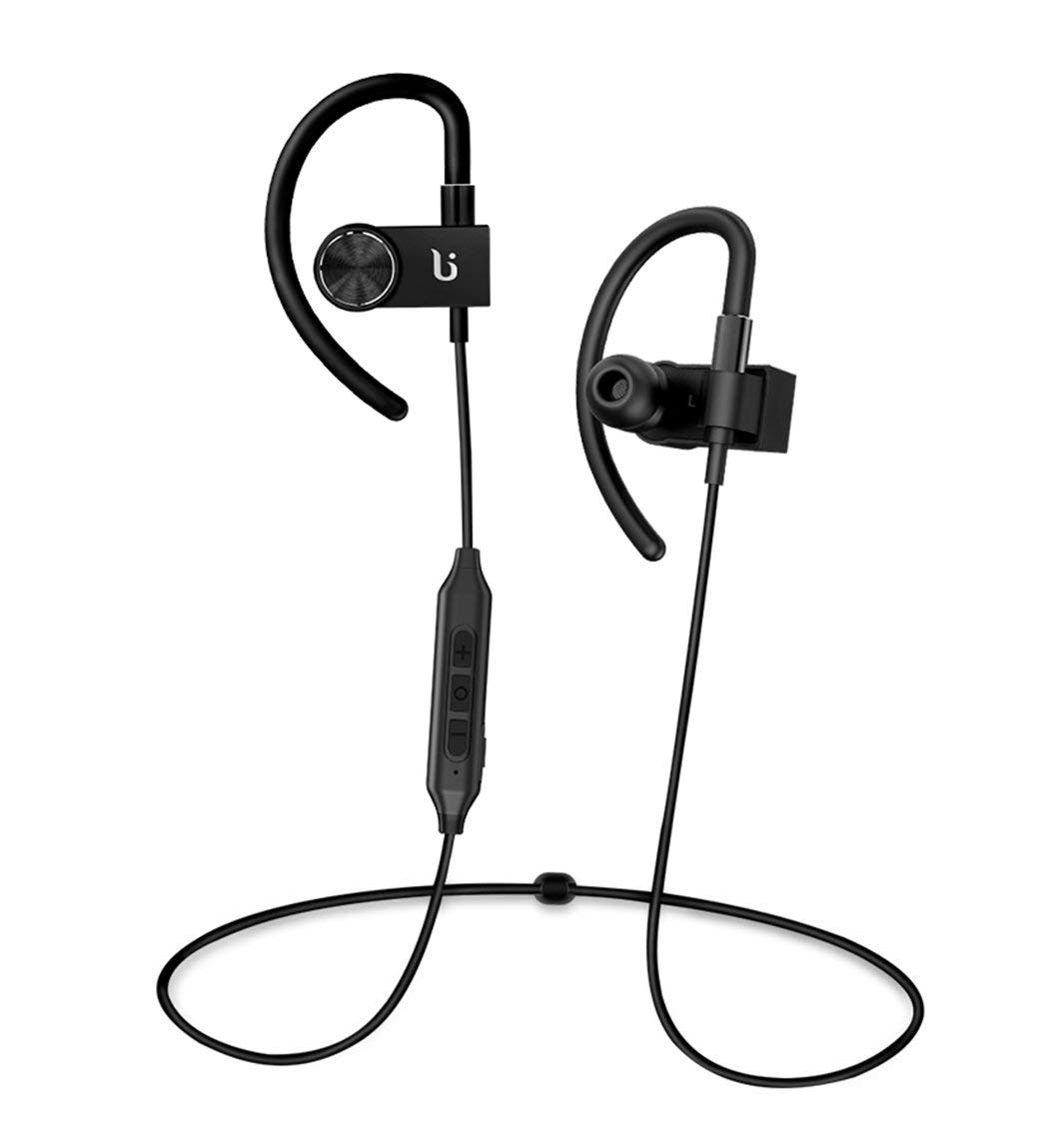 Rock-Crystal788 Bluetooth Headphones Wireless Earphone Sport Headphones Headset Earphones with Mic V4.0 In-Ear Bluetooth Earbuds, Built-in Mic, Stereo Sound, Noise Cancelling (Black)