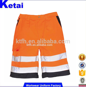 7b63125d12 Bright Orange Reflective Tape Men Cargo Shorts Pants - Buy Men ...