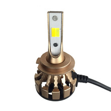 Electric Car SUV Vehicle Bulb Dual Color 60W 6000lm COB Chips H7 LED Headlight For Golf 6