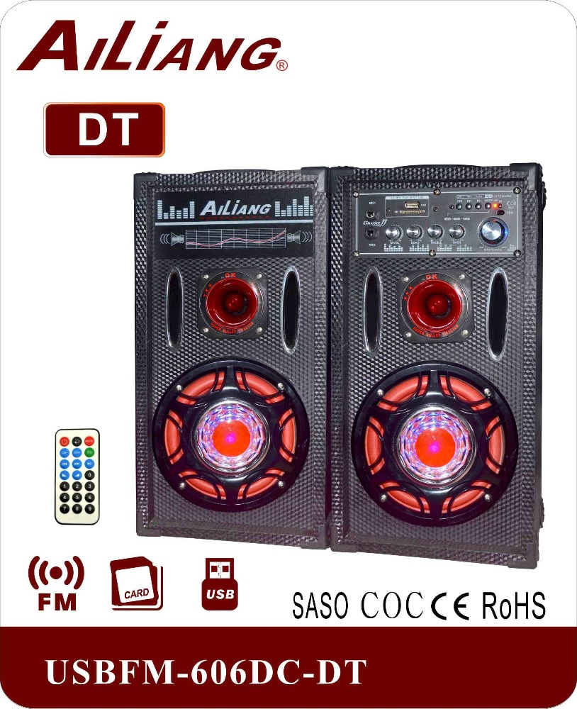 2.0 Aktif Tower Speaker USBFM-606DC-DT dengan Bluetooth