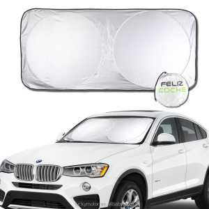 Silver 170*90cm Snow Blocked Anti-UV Car Sun Shade
