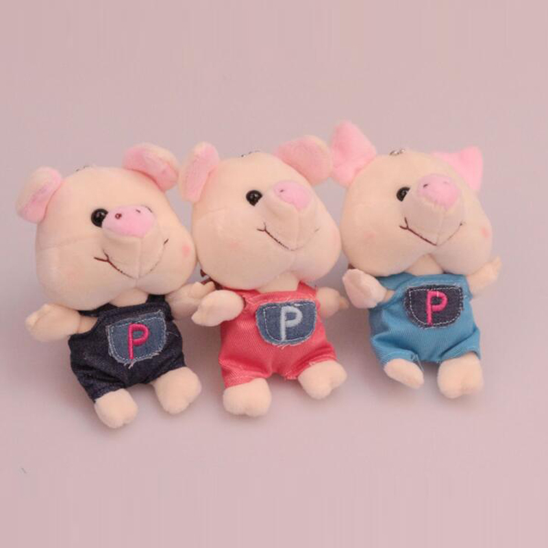 wholesale soft pig toys promotions soft pig toys plush keychain pig for decoration