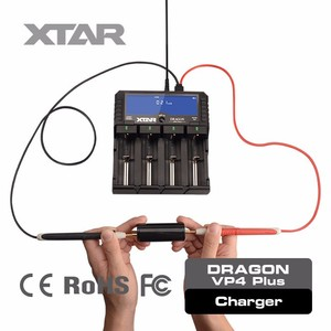 Xtar 18650 battery VP4 PLUS 4 slots chargers test 18650 battery