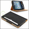 For iPad Mini 1 2 3 Tan Leather Standby Leather Case With Sleep and Wake Function