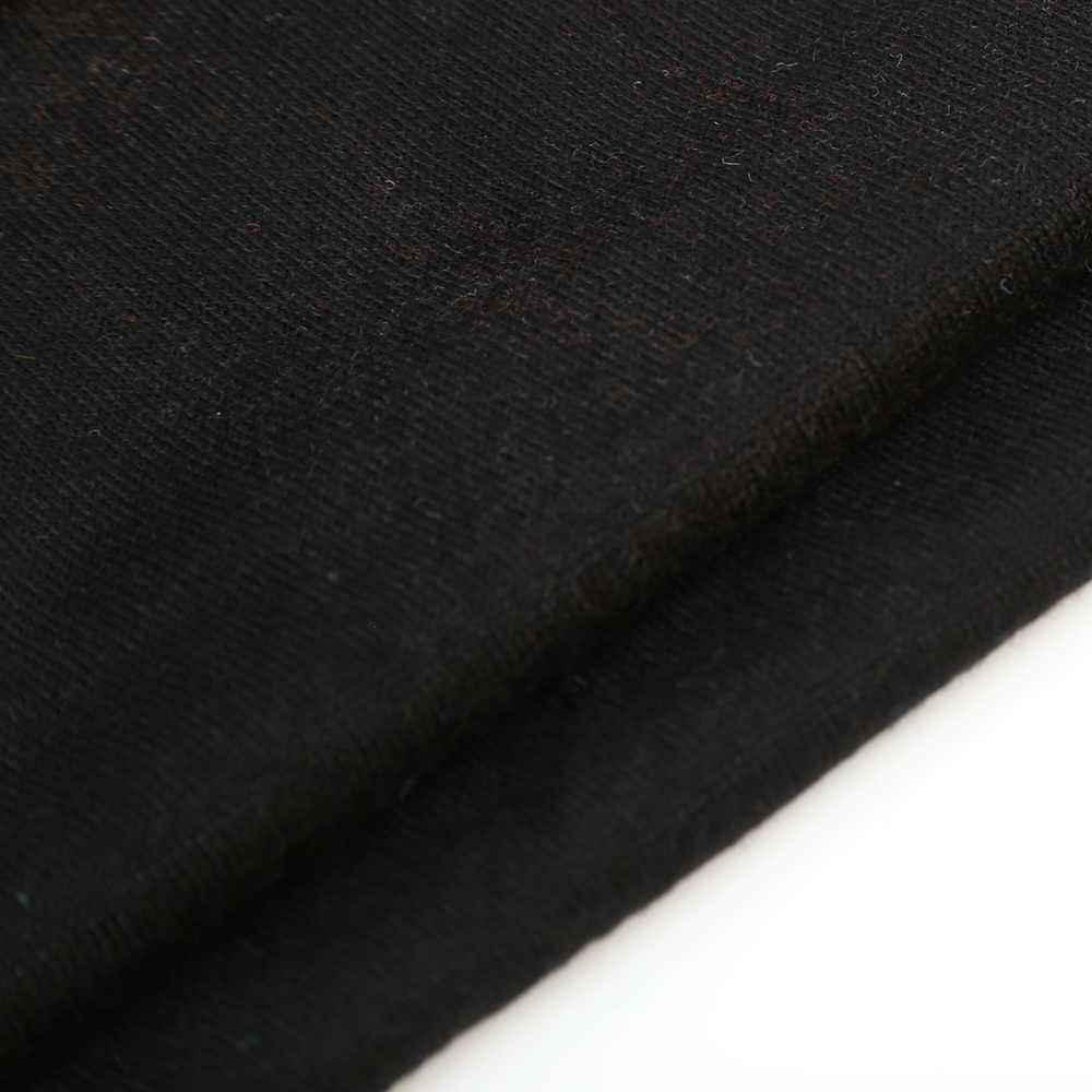 Black color sweater fabric soft handfeeling knit cashmere fabric for clothing