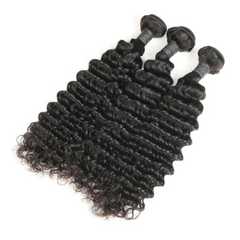 100% Real Human Hair Big Deep Wave 12-28 Inch Virgin Burmese Hair Weaving