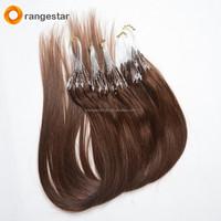 Wholesale full cuticle virgin human 100% cheap remy european micro ring loop hair extension