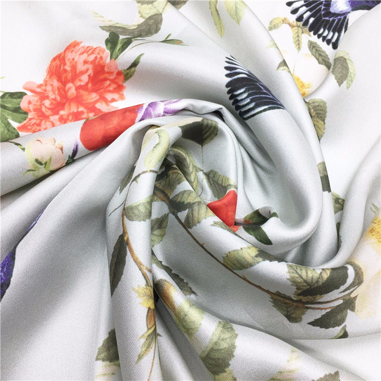 Square Style scarf digital print twill scarves 100% silk