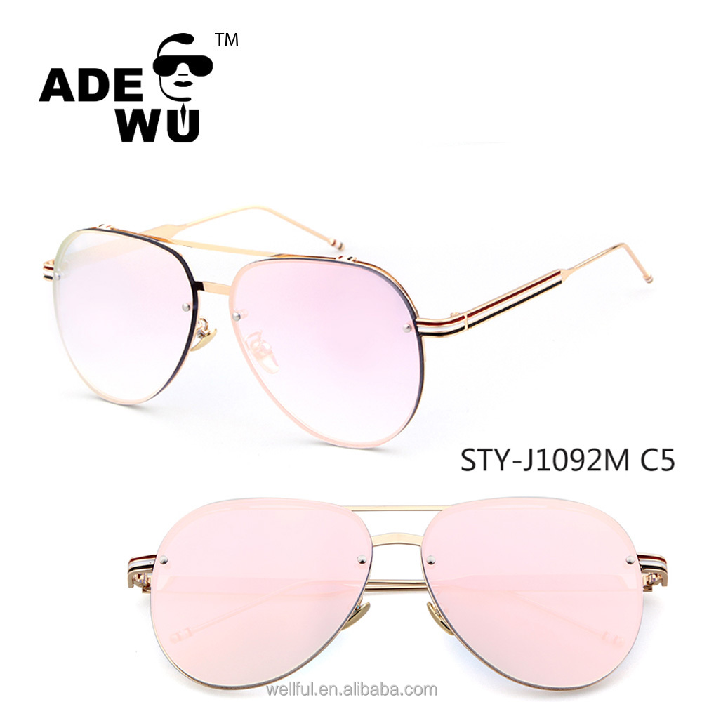 b4150b64723fa ADE WU oversize óculos de sol logotipo personalizado de compra a granel por  atacado de alta