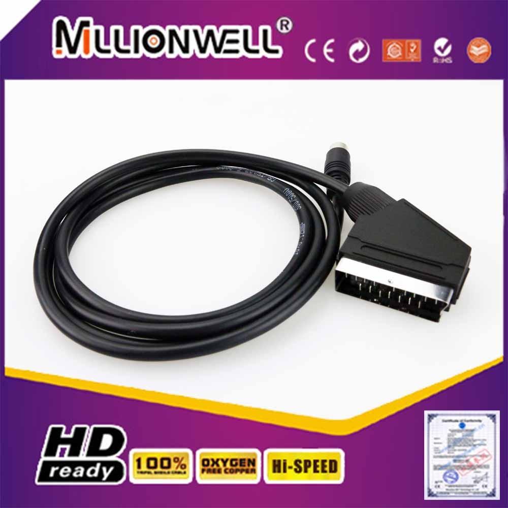 9 polig scart kabel mini scart adapter din scart kabel audio und videokabel produkt id. Black Bedroom Furniture Sets. Home Design Ideas