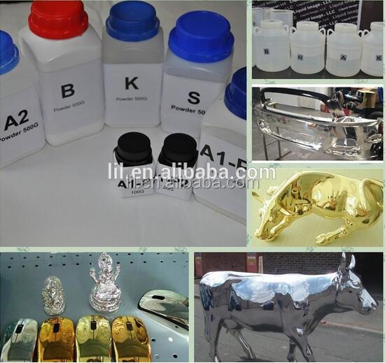 Mirror effect gold chrome plating chemical powder liquid raw material formula