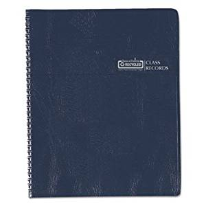 Class Book, Embossed Leather-Like Cover, 11 X 8-1/2, Blue