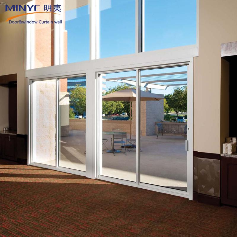 Top Quality Aluminum Large Sliding Glass Doors Top Hung Glass