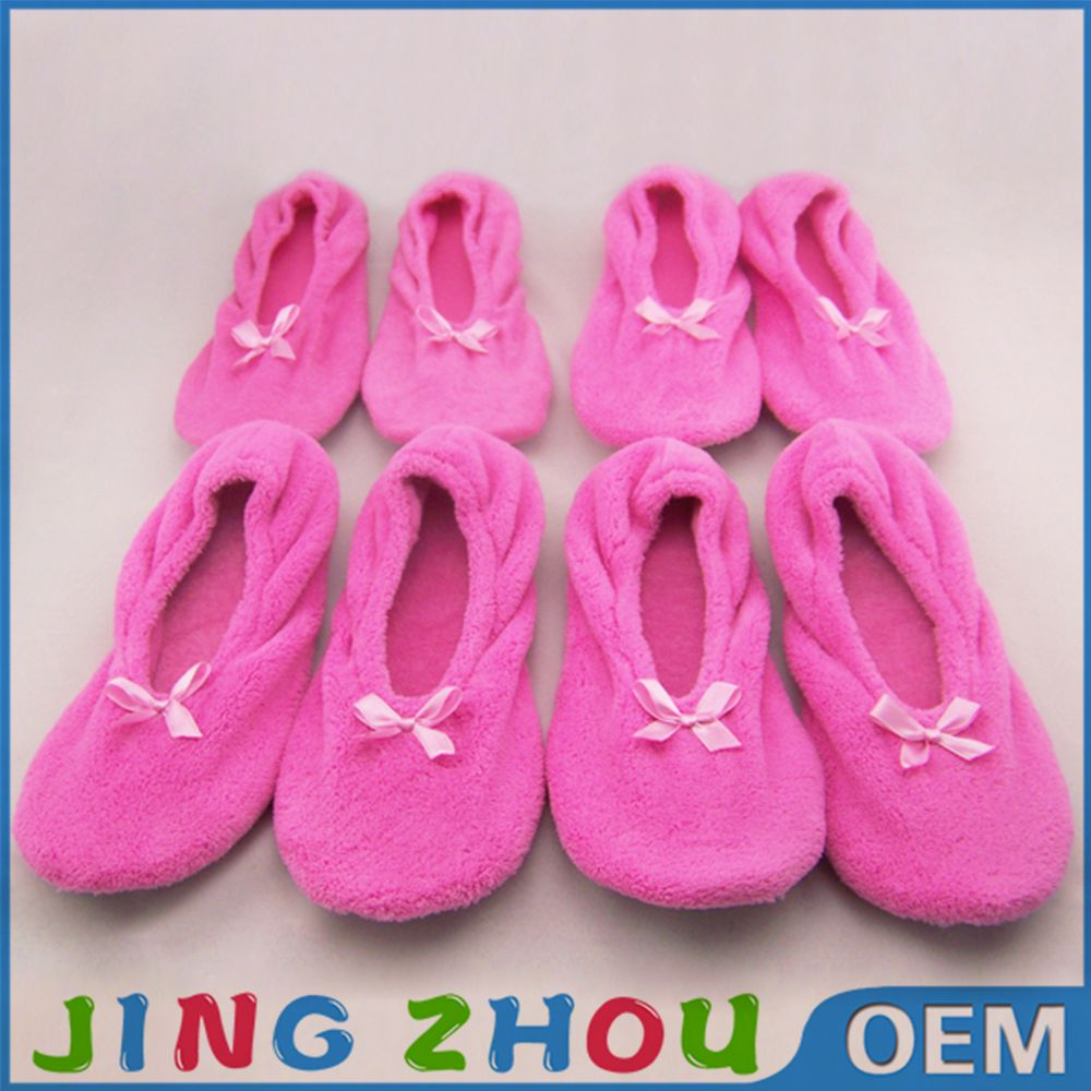 Fluffy cute slppers pink color indoor bedroom buy slippers china