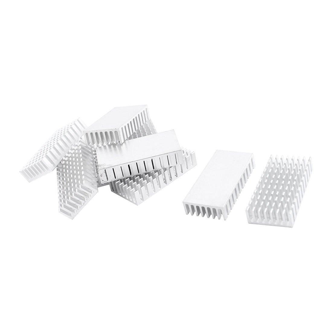 10 Pcs Silver Tone Aluminium VGA CPU Heatsink Heat Sink 10x50x25mm