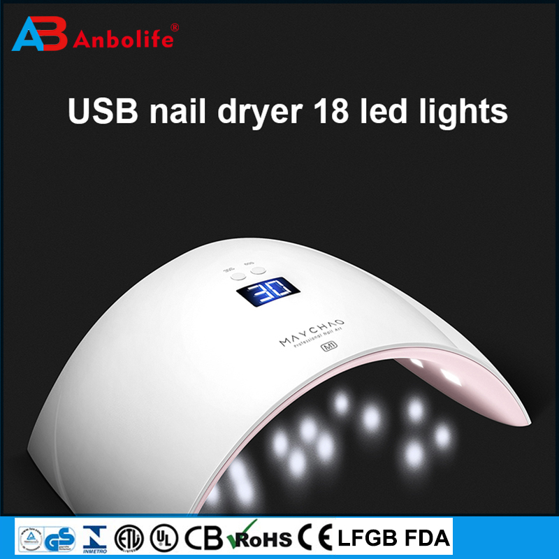 USB rechargeable uv lamp sunshine professional nail dryer 36w uv led nail lamp