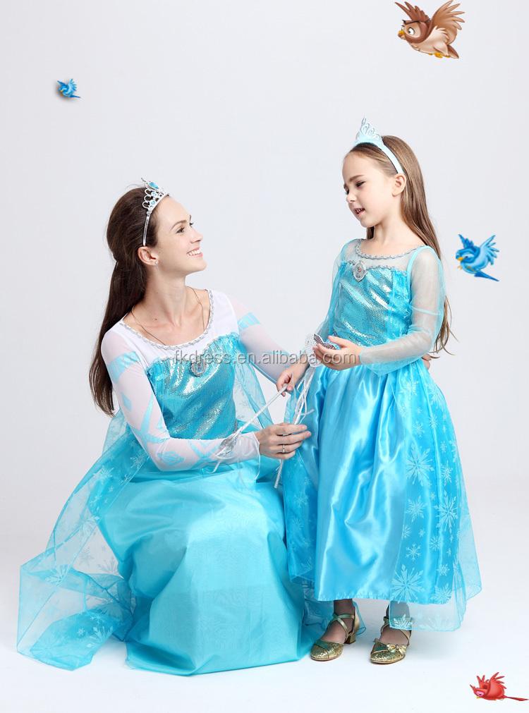 Großhandel 2017 Neue Cosplay Prinzessin ELSA kostüm Gefrorene Anna ...