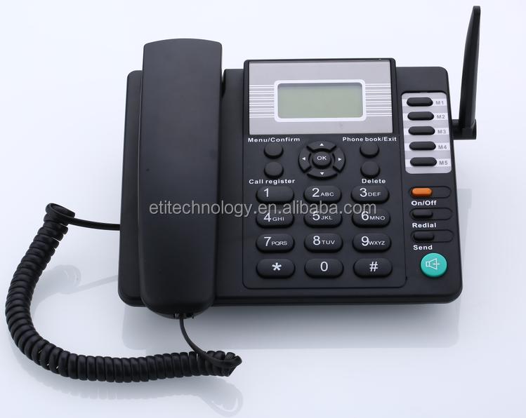 Sim Card Gsm Fixed Wireless Desktop Phone Cheapest Price - Buy Dual Sim Gsm  Fix Wireless Phone,3g Fixed Wireless Phone,Sim Card Gsm Cordless Phone