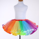 bulk sale baby girls rainbow colored chiffon ruffle mini pettiskirt