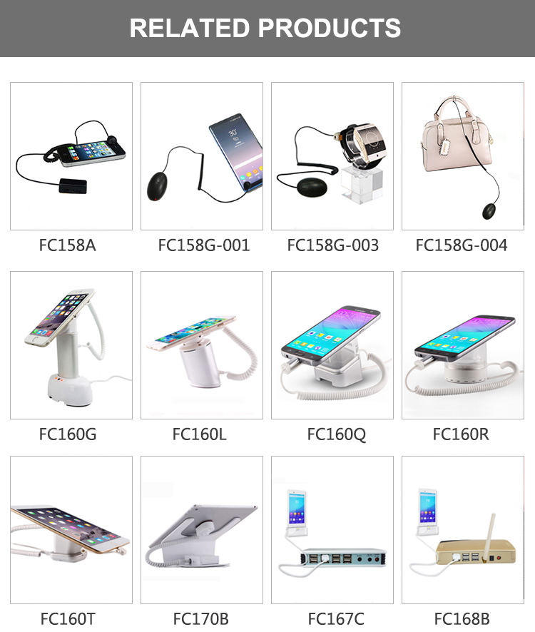 High quality Security display stand with alarm and charge for Cellphone mobile phone
