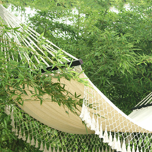 Custom Wooden Folding Rocking Camping Portable Cotton Canvas Hammock