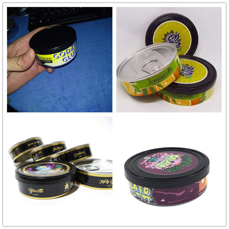 press it in tuna tin cans self sealed 100ml 3.5g pop top tin with lids