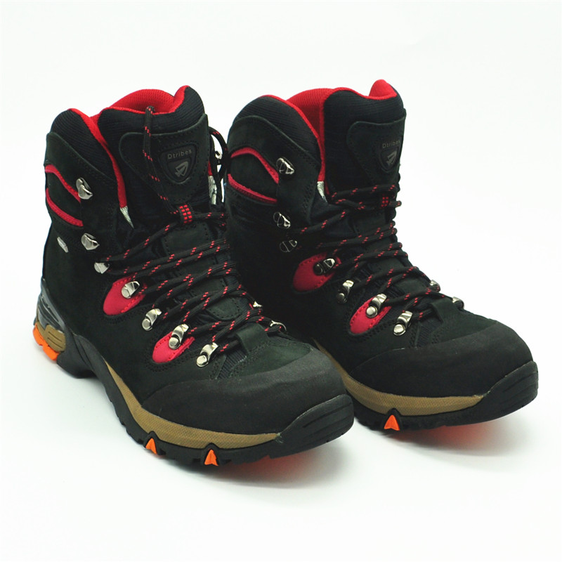 outdoor camping hiking climbing shoes outdoor sporting male Black high hiking shoes