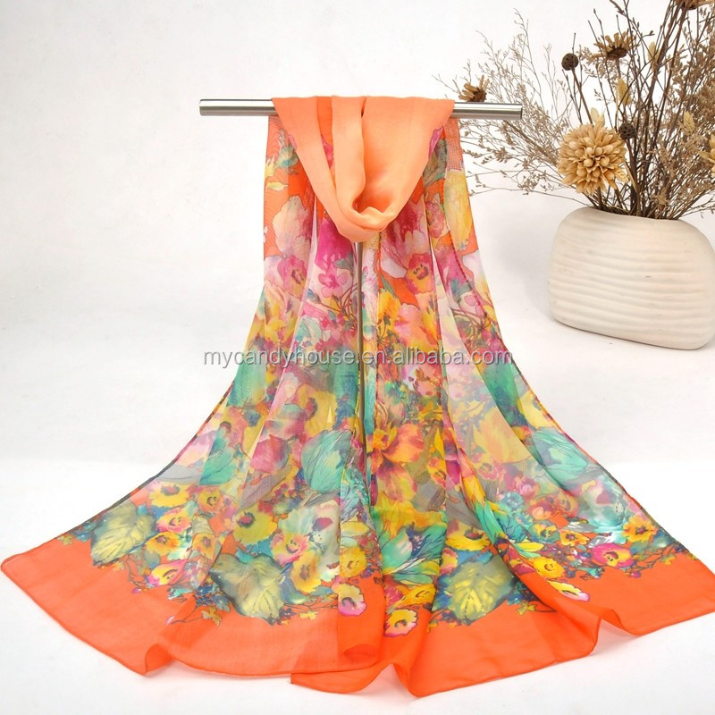 Hot New Products fashion plain chiffon scarf