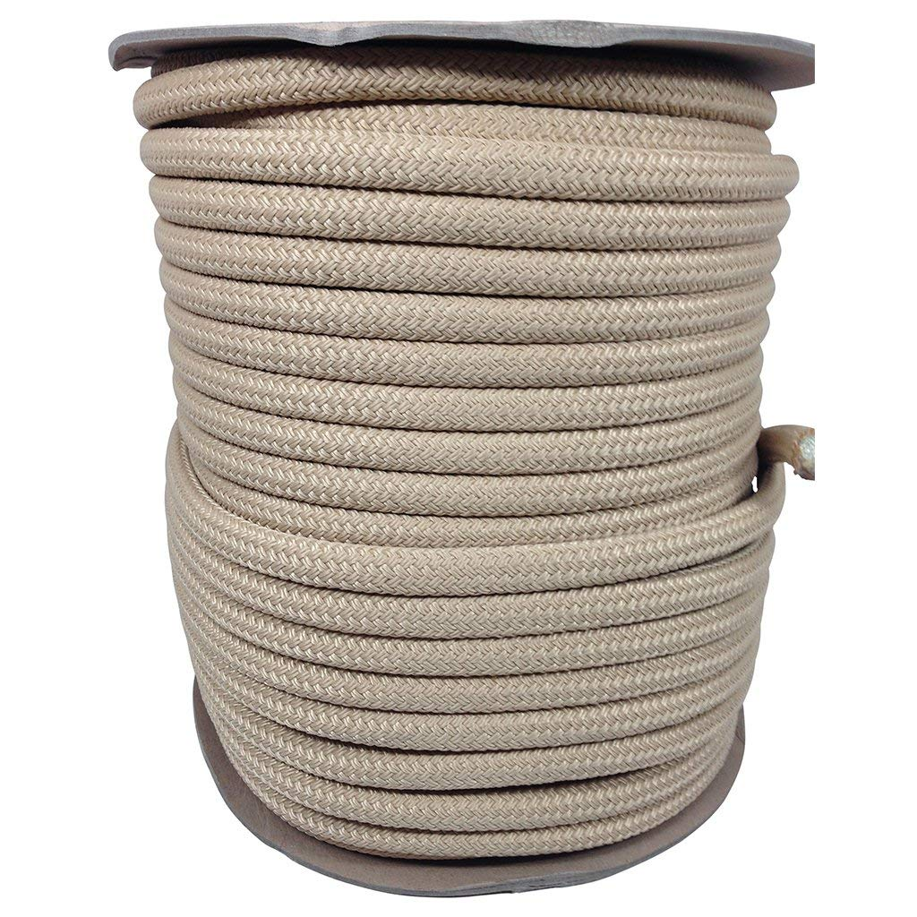 SGT KNOTS Double Braid Polyester Rope (1/2 inch) Braided Rope - All-Purpose Polyester Cord - for DIY Crafting, Equestrian Lead Rope, Camping, Survival, Home Improvement (25 ft - 100 ft)
