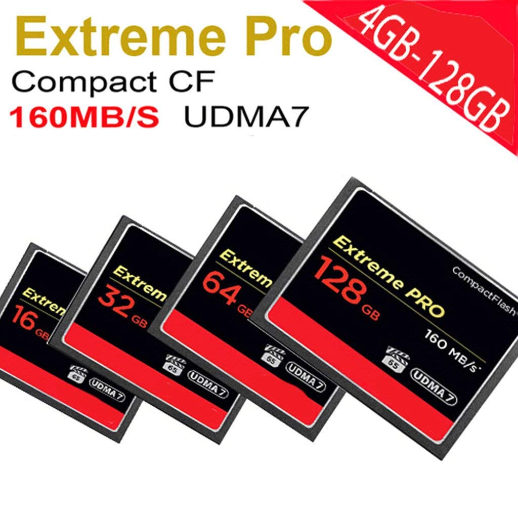Fucung Extreme PRO Memory Card For Camera UDMA7 Compact Flash,Speed 160MB/S 16G,32G,64G,128G Choosable (128GB)